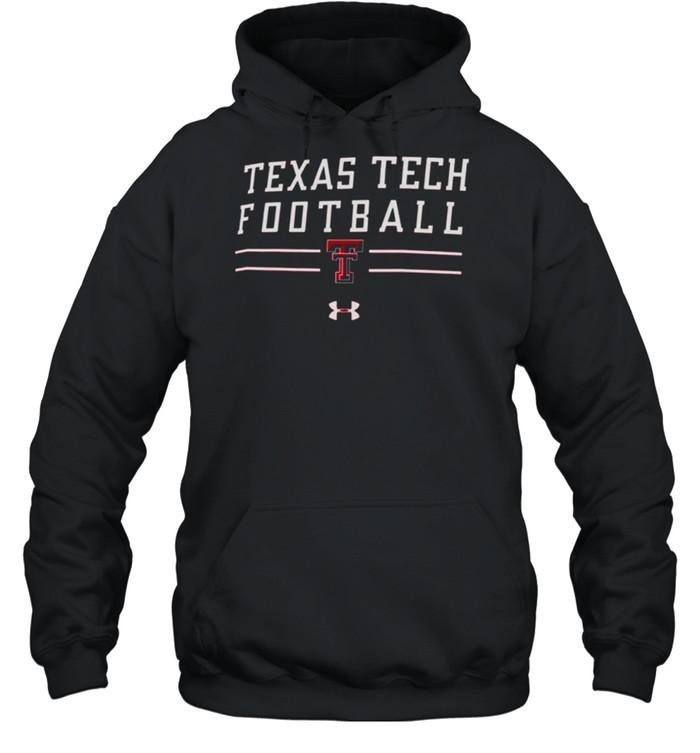 Men's Under Armour Red Texas Tech Red Raiders Football Wordmark Tech 2.0 Performance T- Unisex Hoodie
