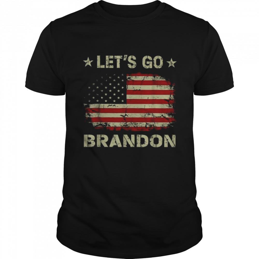 Nice Joe Biden Let's Go Brandon American flag 2021 Shirt