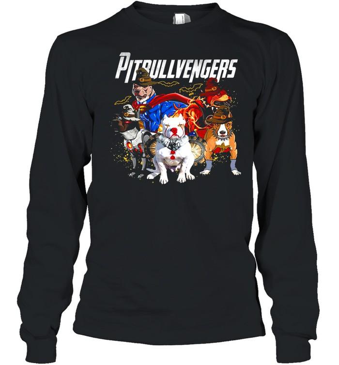 Pitbull vengers avenger shirt Long Sleeved T-shirt