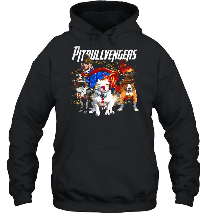 Pitbull vengers avenger shirt Unisex Hoodie